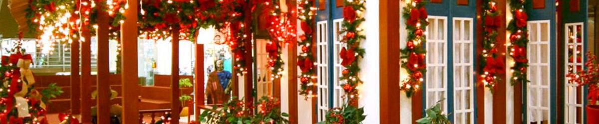decoração natal shopping
