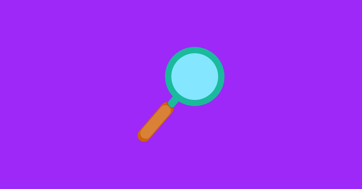 Lupa pesquisa identificar