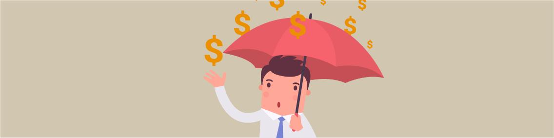 empreendedor chuva dinheiro